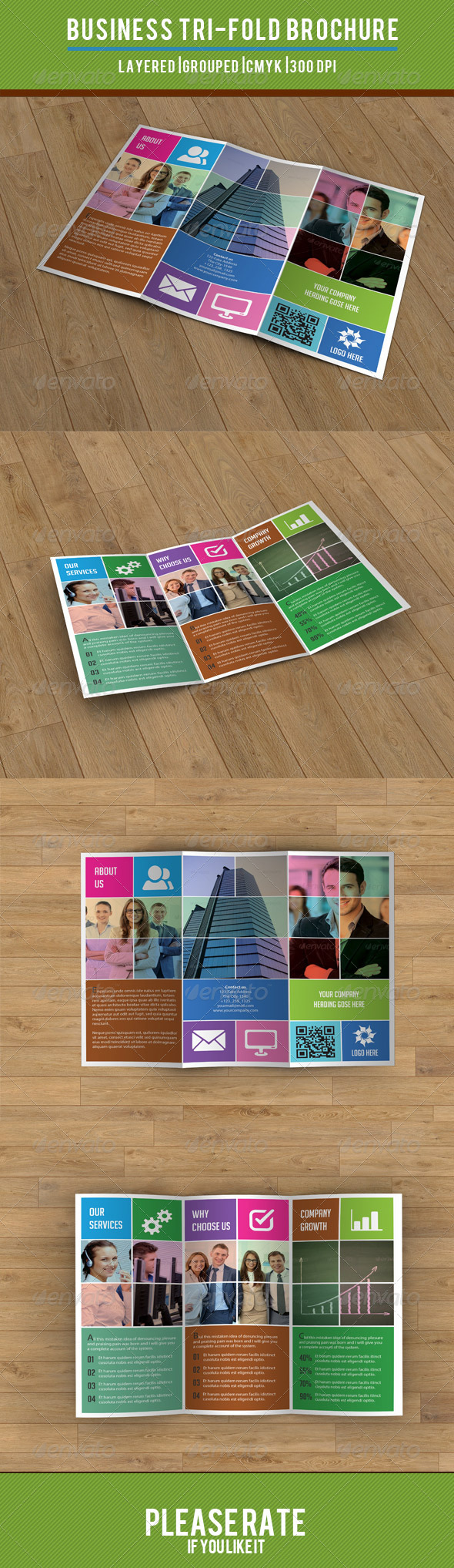 GraphicRiver Metro Style Business Trifold-V23 8130882