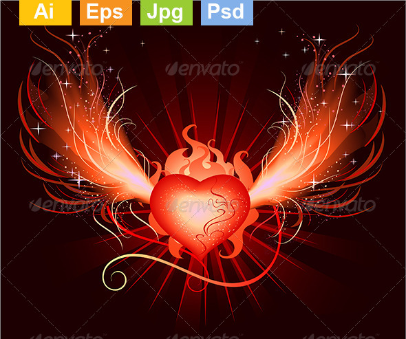 GraphicRiver Heart Phoenix 8130883