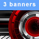 Horizontal Banners with Abstract Mechanisms - GraphicRiver Item for Sale