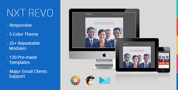 NXT REVO - Responsive Email Newsletter Templates - Email Templates Marketing