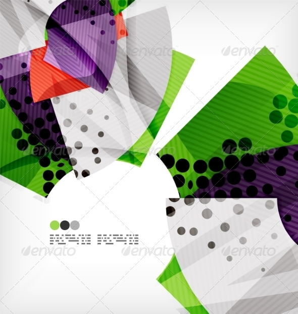 GraphicRiver Semicircle Geometric Vector Abstract Background 8131366