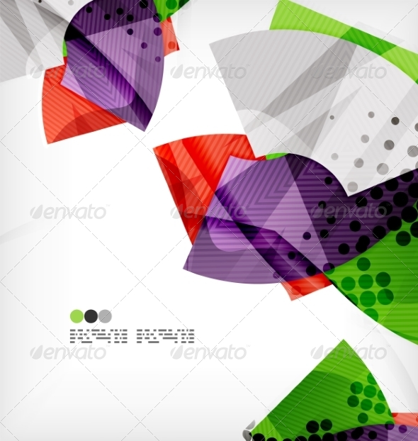 GraphicRiver Semicircle Geometric Vector Abstract Background 8131384