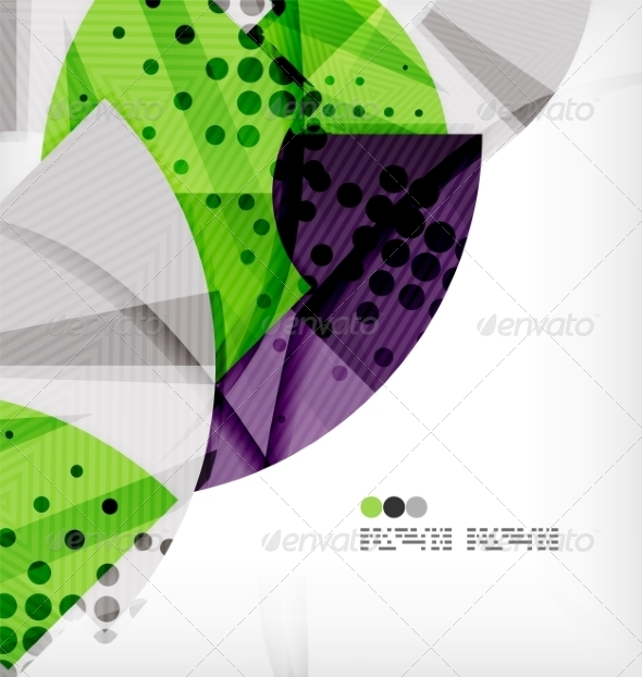 GraphicRiver Semicircle Geometric Vector Abstract Background 8131401
