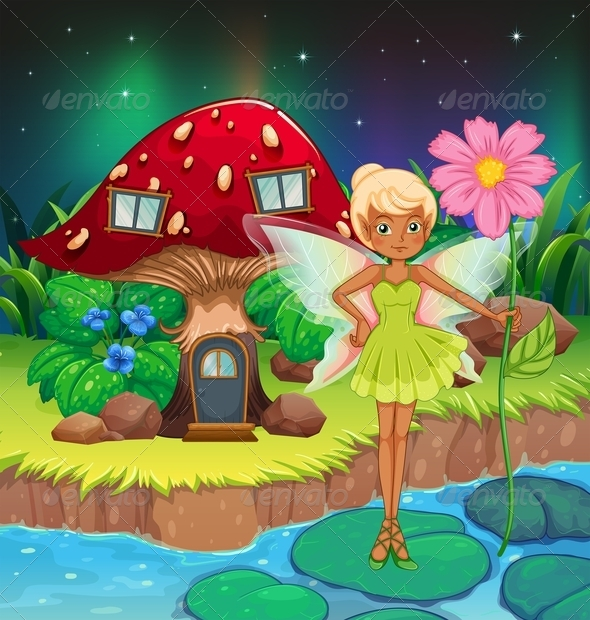 GraphicRiver Fairy holding Flower 8131452