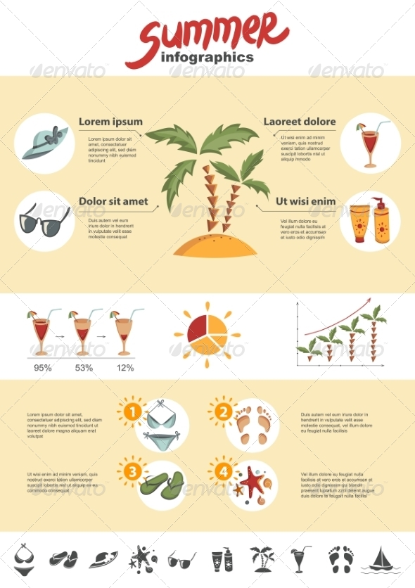 GraphicRiver Summer Infographics Elements 8131729