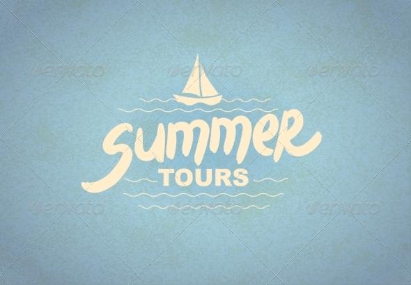GraphicRiver Summer Tours Typographic Design 8131739