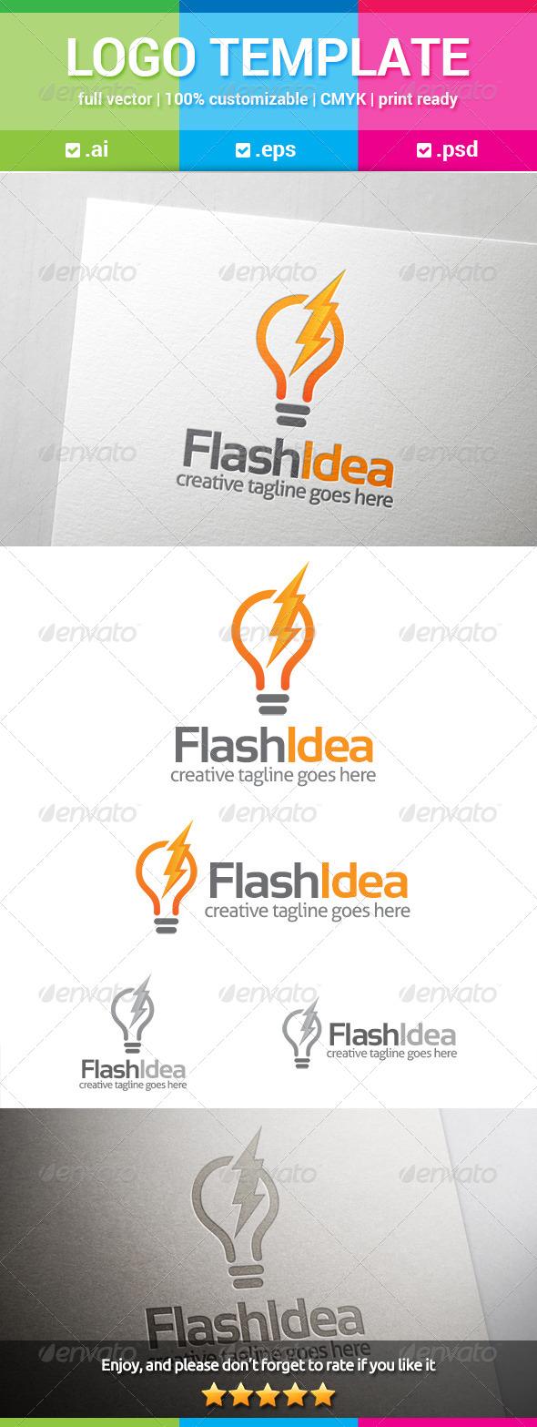 GraphicRiver Flash Idea Logo 8131747