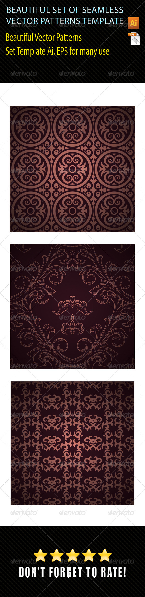 GraphicRiver Seamless Patterns Set 01 8131868