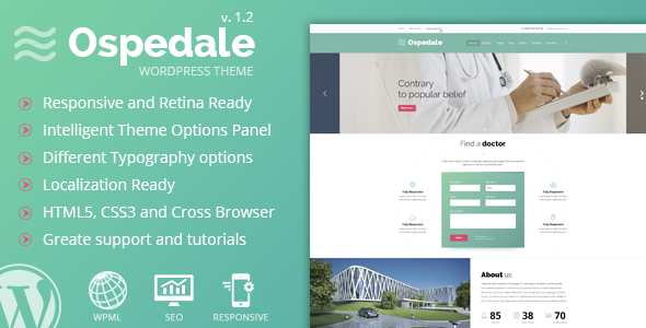 Ospedale Responsive WordPress Theme - Health & Beauty Retail
