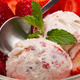Strawberry ice cream with fruits close up - PhotoDune Item for Sale