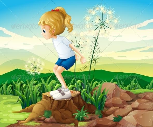 GraphicRiver Girl in a Field 8132055