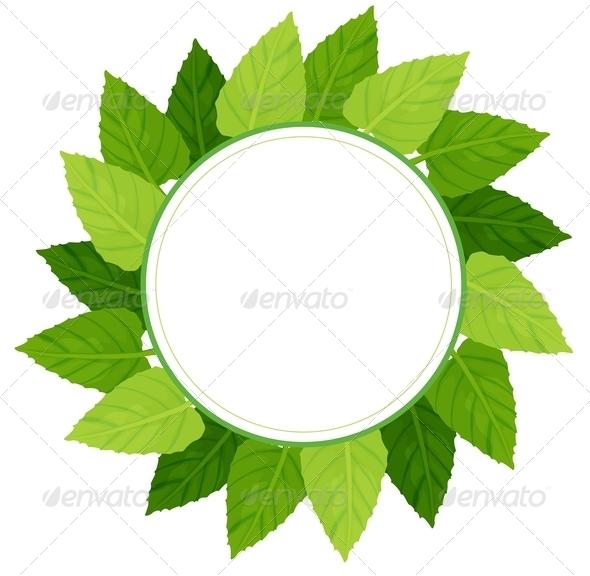 Round Green Leafy Border