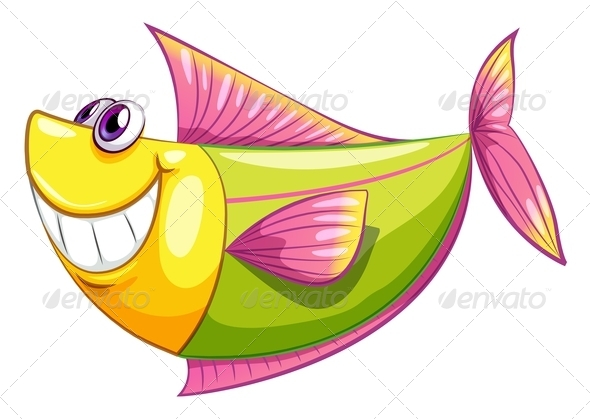 GraphicRiver A Smiling Colorful Aquatic Fish 8132112