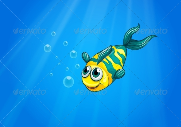 GraphicRiver A Fish Swimming in the Sea 8132115