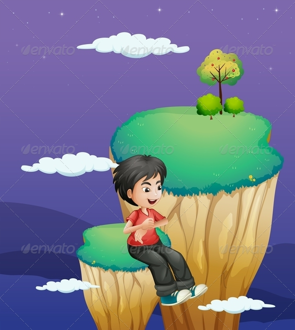 GraphicRiver Boy Waiting for Someone 8132290