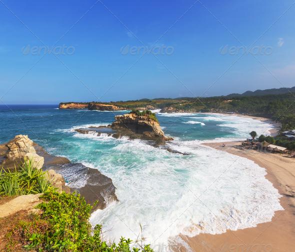 Java beach - Stock Photo - Images