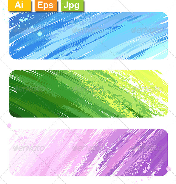 GraphicRiver Three Painted Banners 8132317