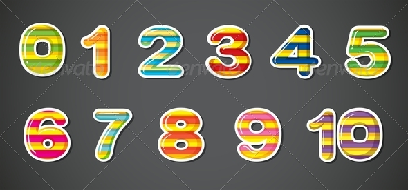 GraphicRiver Colorful Numbers 8132323