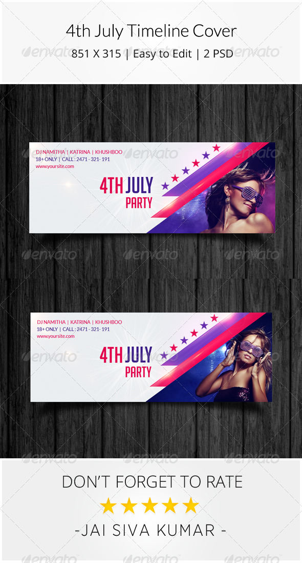GraphicRiver 4th July Timeline Cover 8132326