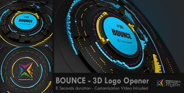 BOUNCE 3D Logo Opener