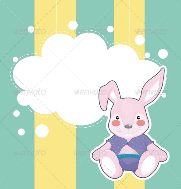 GraphicRiver A Stationery with a Sad Bunny 8132347