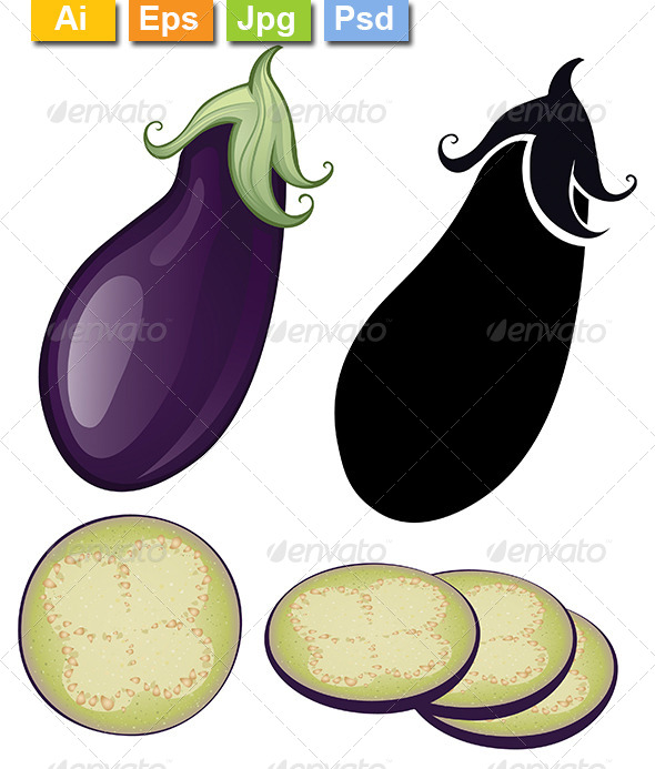 GraphicRiver Stylized Eggplant 8132350