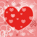 Hearts Background Shows Valentine's Day And Abstract