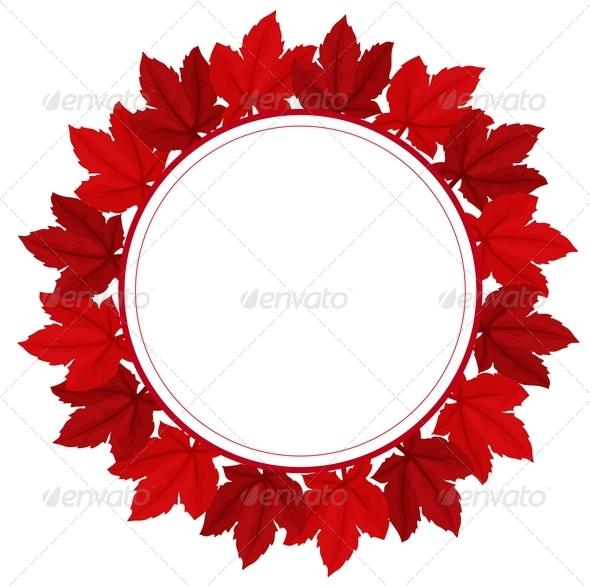 GraphicRiver A Red Leafy Border 8132418