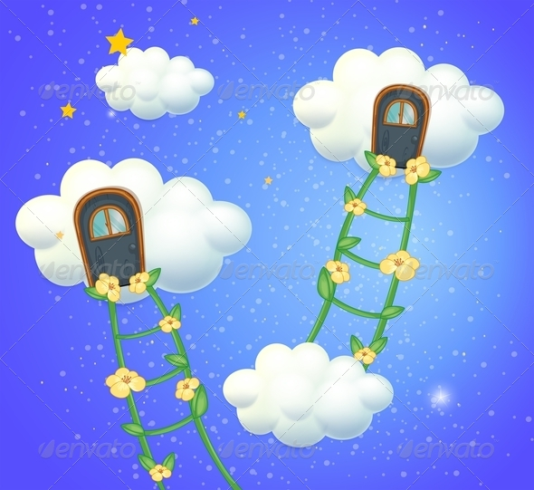 GraphicRiver Clouds with Doors in the Sky 8132423