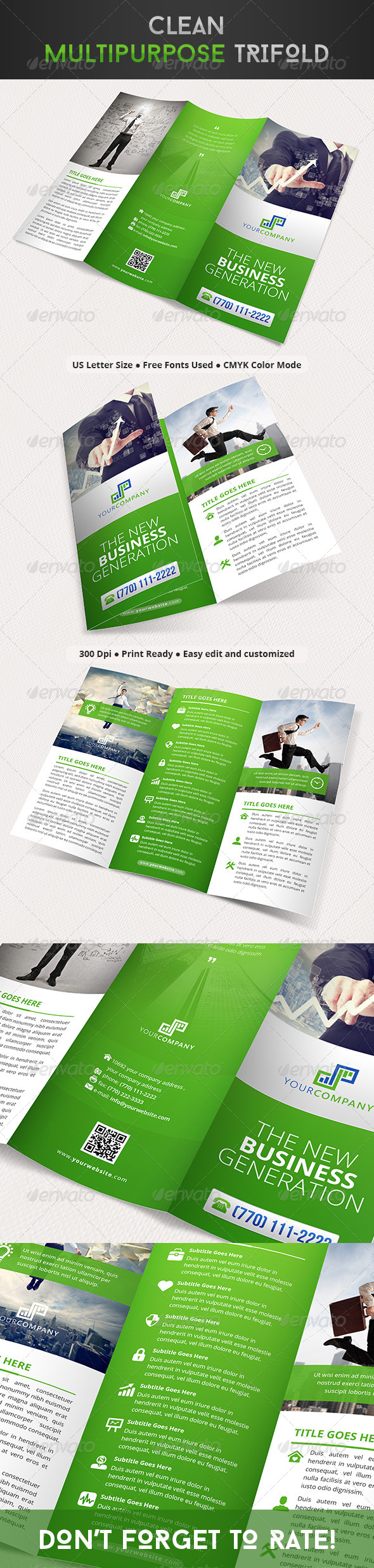 GraphicRiver Clean Multipurpose Trifold 8129897