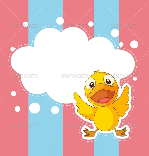GraphicRiver A Stationery with a Baby Duck 8132445