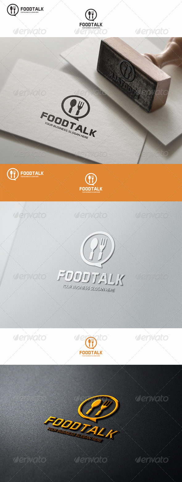 GraphicRiver Food Talk Logo Template 8132502