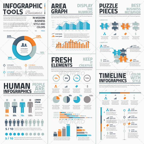 GraphicRiver Large collection of Infographic Vector Templates 8132505