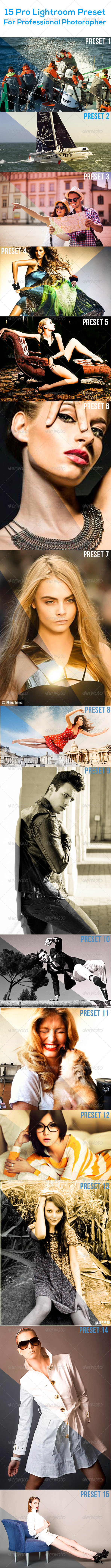 GraphicRiver 15 Pro Lightroom Preset 8132533