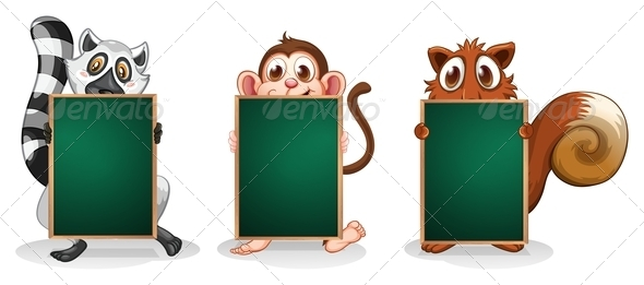 GraphicRiver Three Animals with Empty Boards 8132567