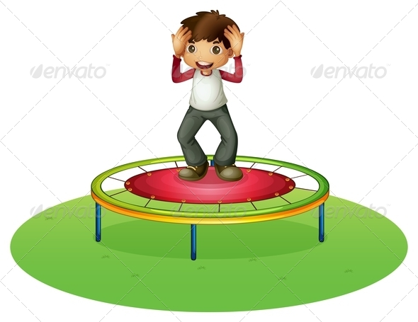 GraphicRiver A Boy on a Trampoline 8132613