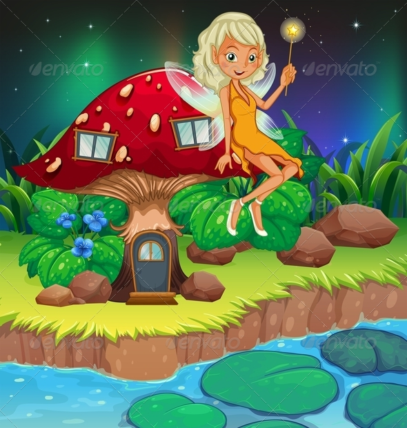 GraphicRiver Fairy by Mushroom House 8132714