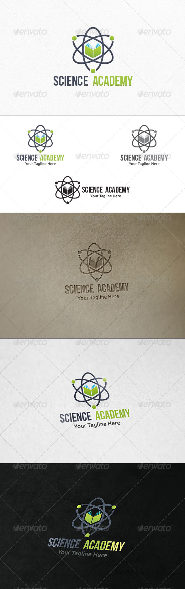 GraphicRiver Science Academy Logo Template 8132762
