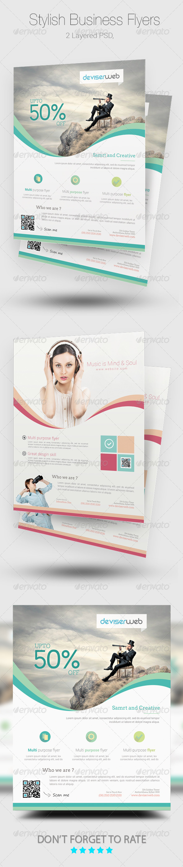 GraphicRiver Stylish Business Flyer poster Templates 8132781