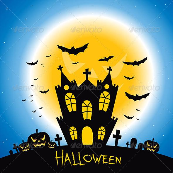 GraphicRiver Halloween Creepy House 8132897