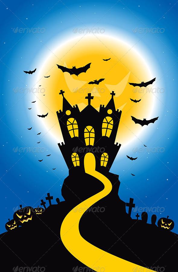 GraphicRiver Halloween Creepy Hill 8132898