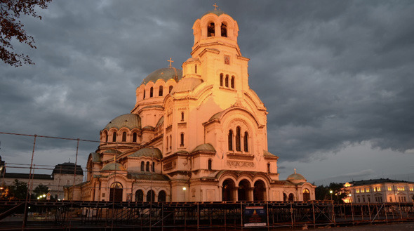 Alexander Nevsky Cathedral in Sofia Day to Night