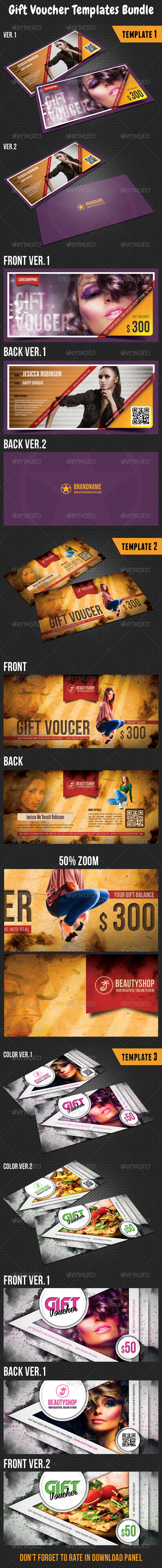 GraphicRiver Gift Voucher Templates Bundle 01 8133166