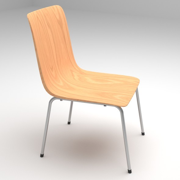 Plywood Chair with Metal Chair Legs - 3DOcean Item for Sale