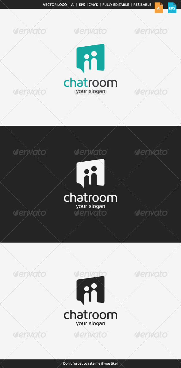 GraphicRiver Chat Room Logo 8134046