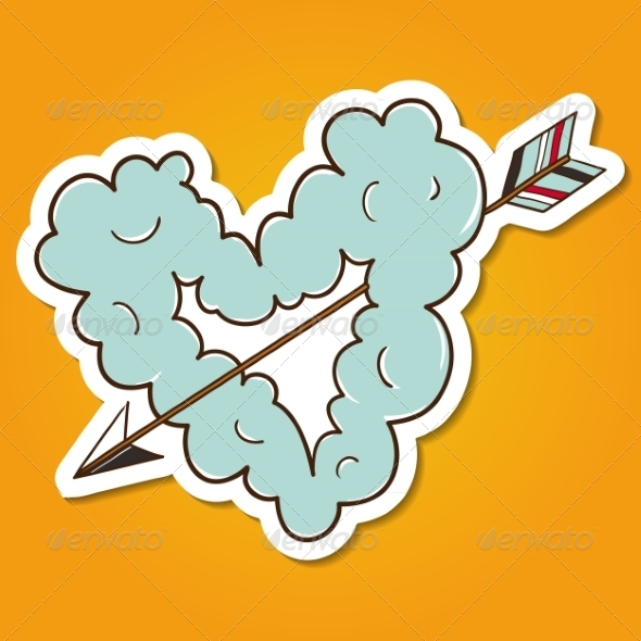 GraphicRiver Cloud Heart with Arrow 8134279