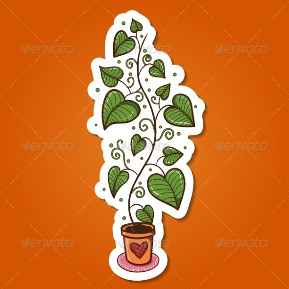 GraphicRiver Green Plant in a Pot 8134291