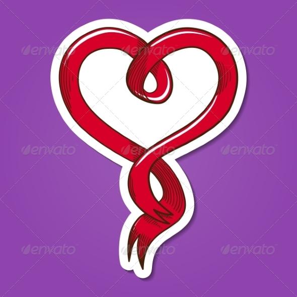 GraphicRiver Heart Ribbon 8134298
