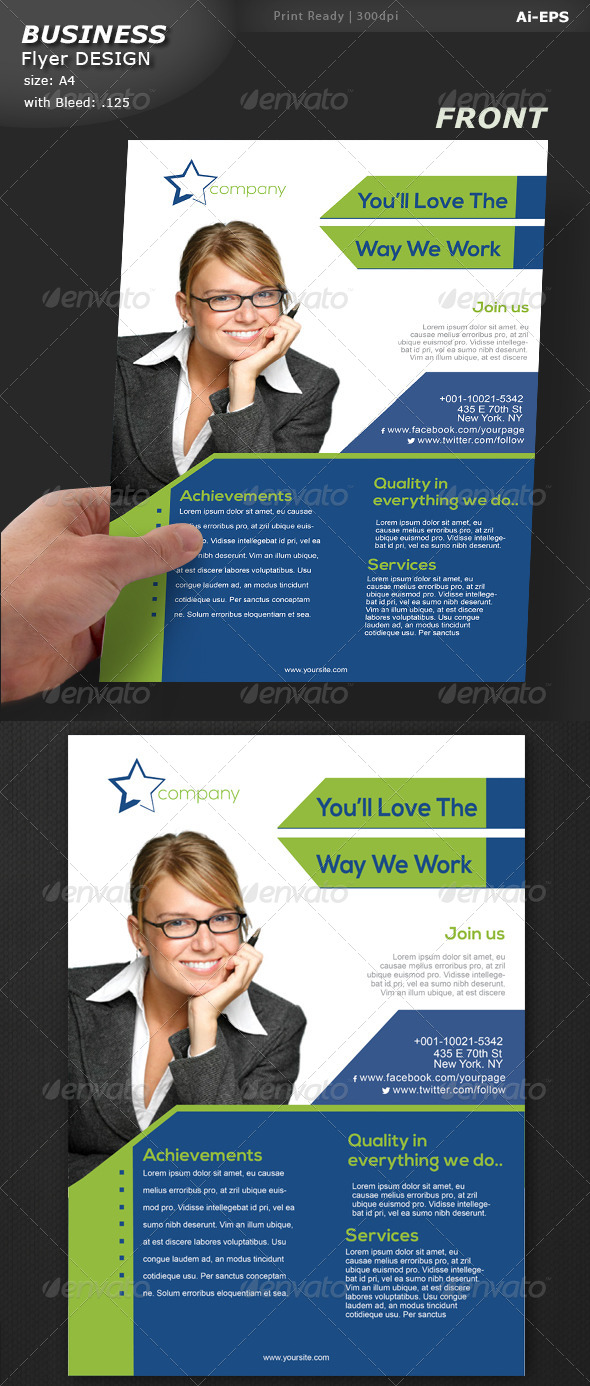 GraphicRiver Business Flyer Design 8134357