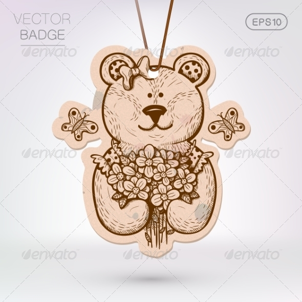 GraphicRiver Teddy Bear with Flowers 8134462